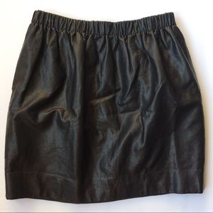 UO sparkle and fade pleather vegan leather skirt